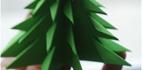 آموزش ساخت درخت کاج با کاغذ