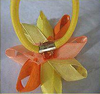 ساخت گل سر با روبان