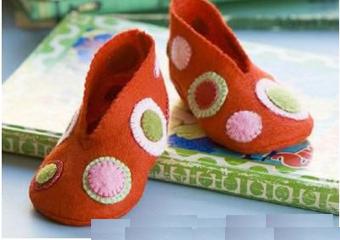 بافت روفرشی نوزاد,آموزش ساخت کفش برای بچه ها,ساخت کفش پارچه ای,ساخت کاردستی با پارچه