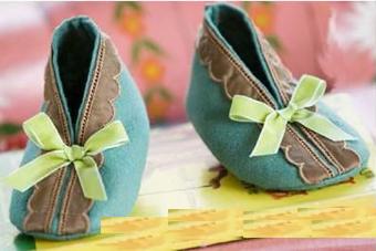 دوخت کفش نوزاد,دوخت کفش کودکانه,بافت کفش نوزاد