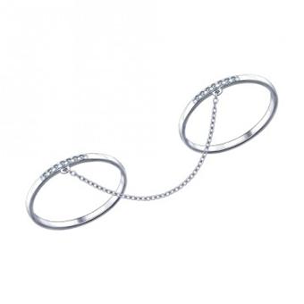 جدیدترین مدل های حلقه,مدل حلقه دو انگشته,مدل حلقه دو قلو