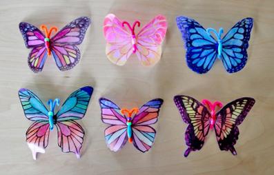ساخت پروانه کاغذی,ساخت پروانه با کاغذ,پروانه کاغذی