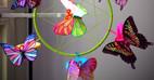 آموزش ساخت پروانه های رنگی با کاغذ