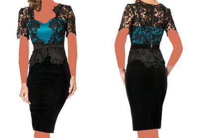 مدل لباس مجلسی برند Cristallini,مدل پیراهن کوتاه مجلسی