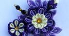 مدل های جدید و زیبای گل های ساخته شده با روبان