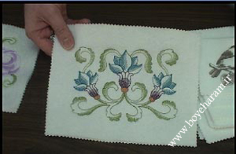 گلدوزی روی چرم,آموزش گلسازی روی چرم