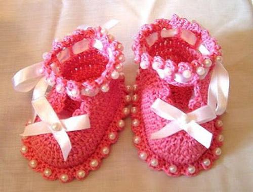 آموزش بافت انواع کفش روفرشی,بافت لباس نوزاد,بافت لباس بچه گانه