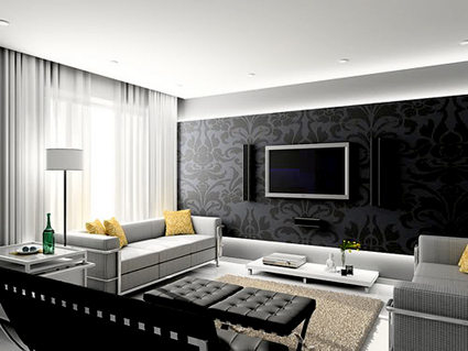 تزئین اتاق نشیمن با تلوزیون,اتاق نشیمن,تصاویر اتاق نشیمن