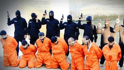 بریدن سر24 نفر به دست داعش,اعدام24 نفر به دست داعش