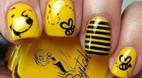 آموزش مدل های طراحی ناخن با لاک زرد