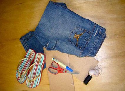 ساخت کفش پارچه ای,دوخت کفش پارچه ای با شلوار جین