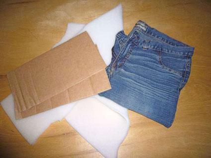 ساخت کفش پارچه ای با شلوار جین,دوخت دمپایی با شلوار جین