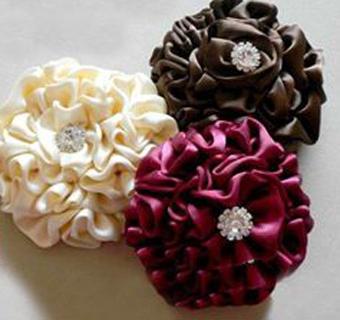 ساخت تل,ساخت گل سر,آموزش تل سر,آموزش گل سر,تل,گلسر