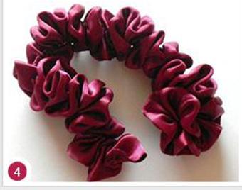آموزش گلسازی,گلسازی باروبان,ساخت گل روبانی