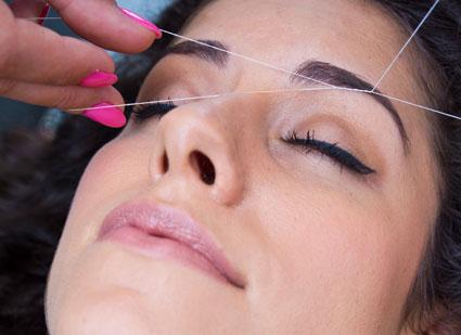 عوارض انداختن بند,عوارض بند اندازی به صورت,ازبین بردن موی صورت با بند,کاهش موی صورت با بند