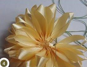 ساخت گل آفتابگردان با روبان