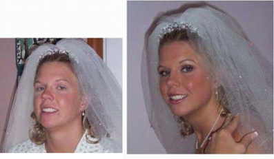 عکس دختر قبل و بعد از آرایش,Bridal makeup before and after