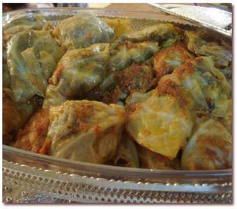 پخت دلمه,دلمه کلمی,پخت دلمه با کلم,Stuffed cabbage cooking